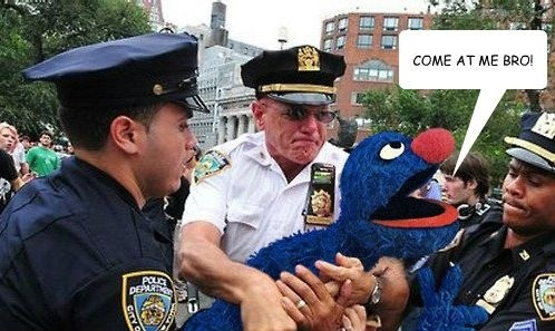 Cops Crack Down On Occupy Sesame Street