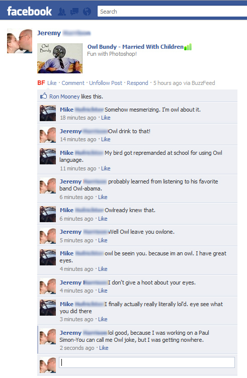 Hilarious Facebook Conversation!