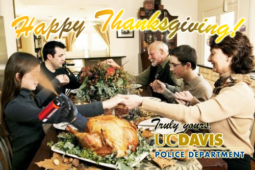 Pepper Spray Cop Gives Thanks This Thanksgiving