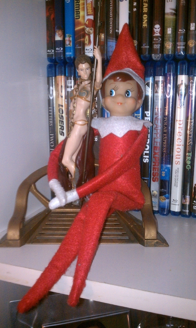 Elf On a Shelf Makes a Move