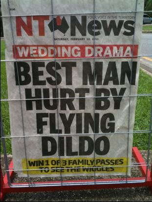 Man Hit in Head by Dildo