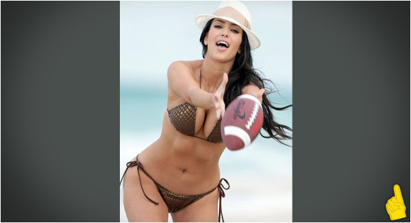 Sports Babe of the Day: Who's Ready to Play Football With Kim Kardashian