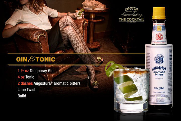 Stimulating Cocktails With Angostura Bitters - Gin & Tonic