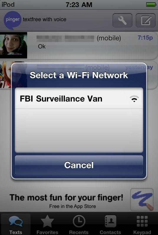 Select A Wi-Fi Network