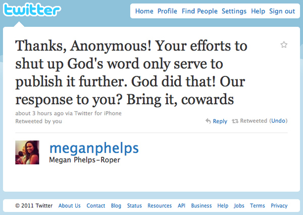 Westboro Church To Anonymous: Bring It, Cowards