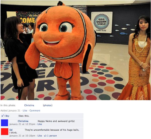 Awkward Nemo Cosplay