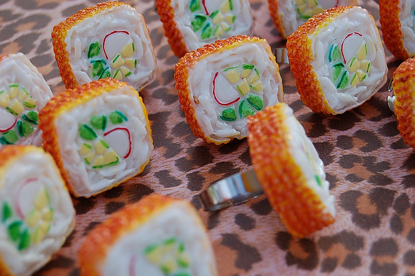 Giant Sushi Ring! Wearable Art Jewelry!