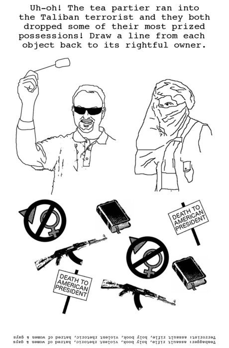 Tea Party / Terrorist Puzzle Page