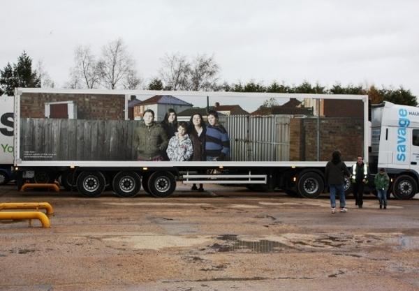 Family Portrait On Lorries