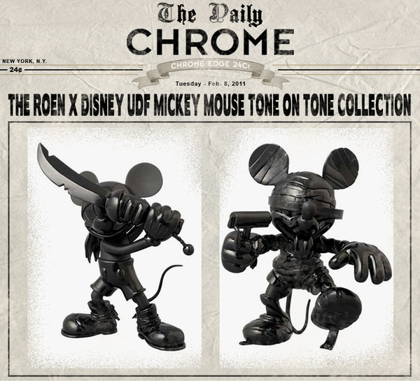 Medicom Toy, Releases a Collection of Figures Involving Both Disney's Mickey Mouse and Japanese Fashion Brand ROEN.