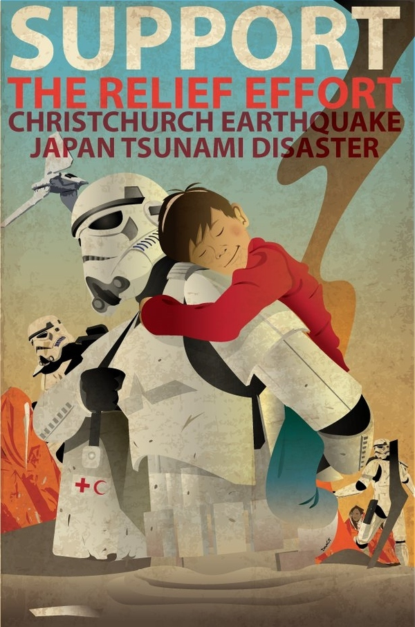 Stormtroopers Help Disaster Victims