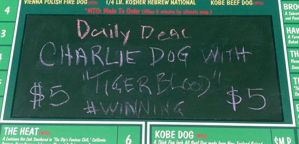 Charlie Dog With Tigerblood