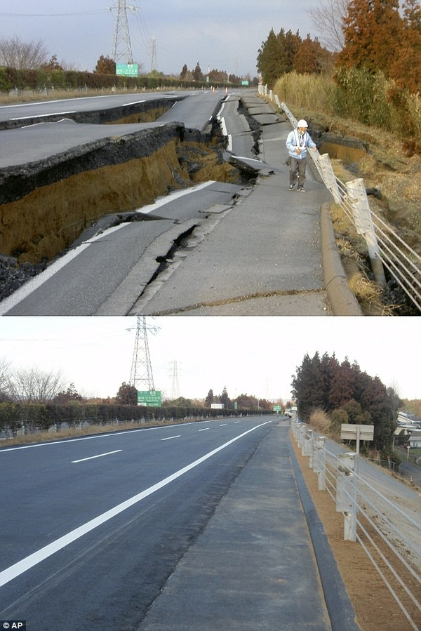 Road in Japan is Fixed (For Real This Time)