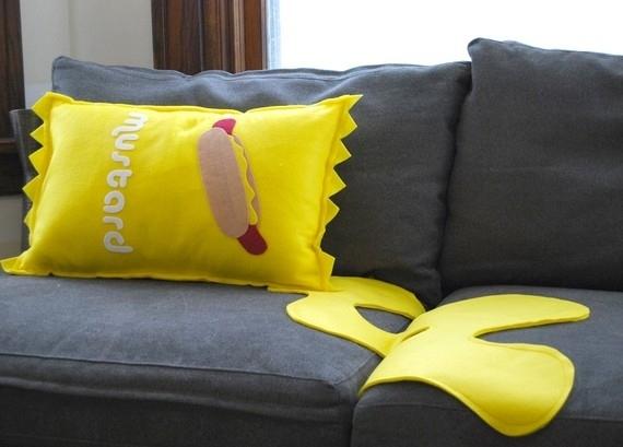Spilled Mustard Pillow