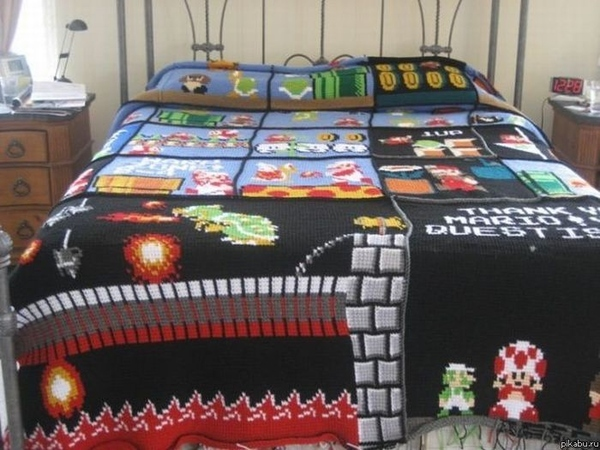 Super Mario Bed Cover