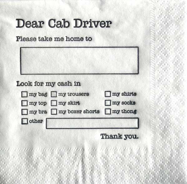Cabbie Napkins