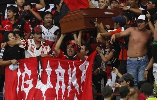 Casket at a Soccer Match? Ay Dios Mio!