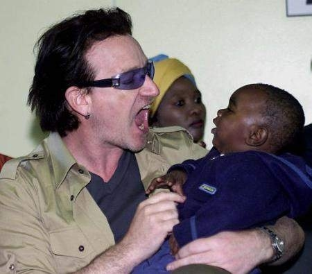 Why is Bono Yelling at This Poor Child?