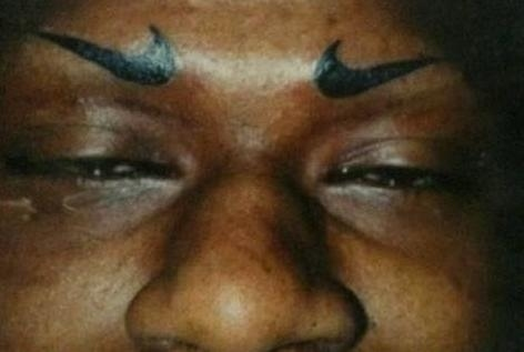 Nike Tattoo Eyebrows