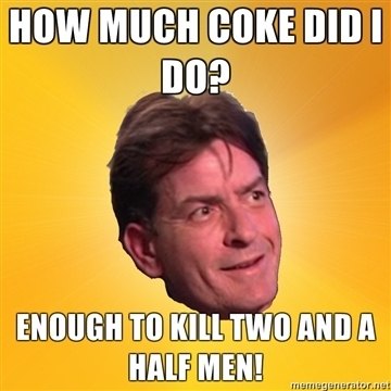 How Much Coke Did Charlie Sheen Do?
