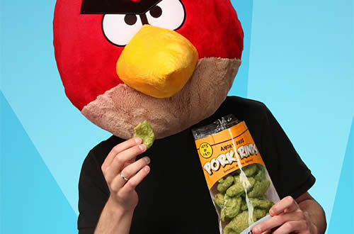 Angry Birds Pork Rinds