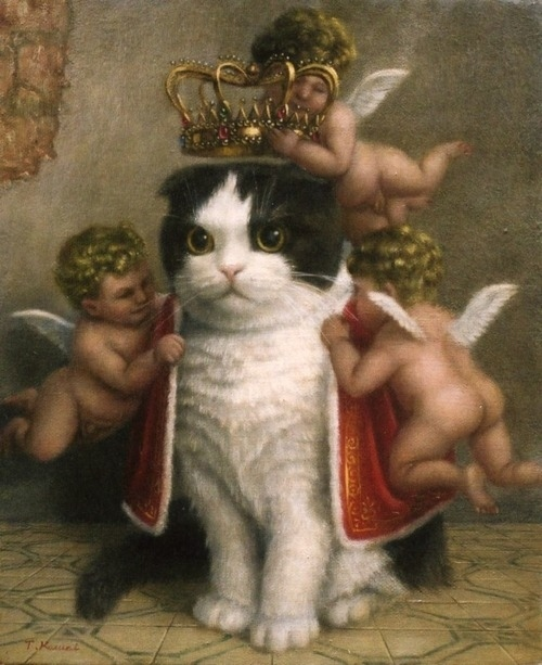 Baroque Royal Cat Painting