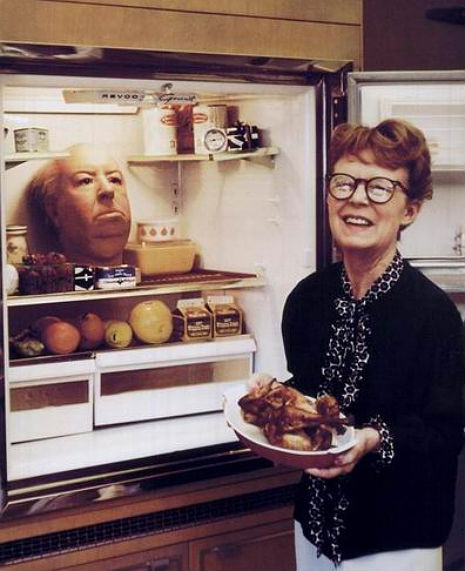 Alfred Hitchcock's Head In A Refrigerator