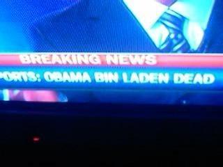 """Fox News Typo """"OBAMA BIN LADEN IS DEAD"""""""