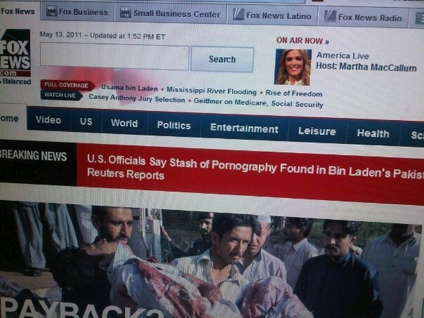 FOX NEWS JUST IN: Bin Laden Liked Porn, Just Like Us Regular Guys!