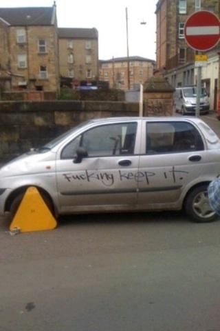 Parking in Scotland!
