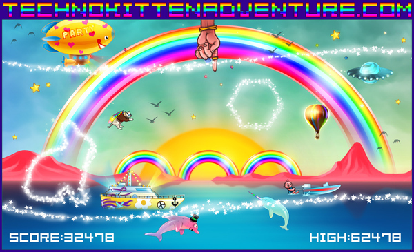 Kittens + Jetpacks + Sparkles = Techno Kitten Adventure