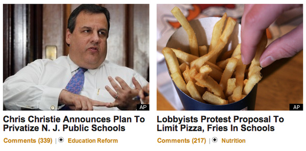 HuffPo Tempts Gov. Christie With Adjacent Story