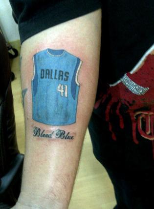 Fan Tatts: Dirk Nowitzki's Mavericks jersey edition