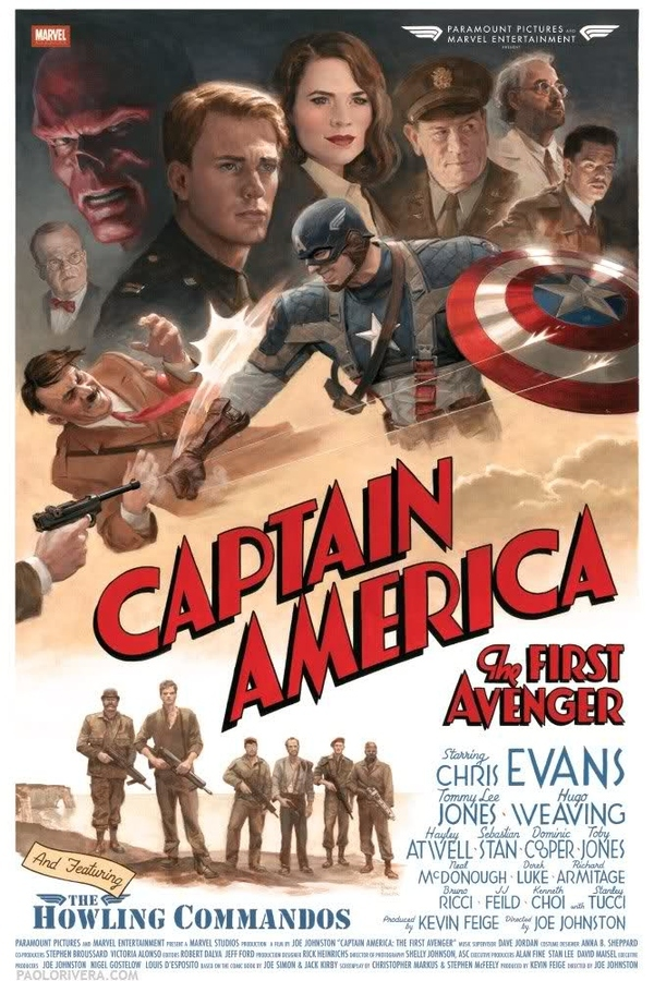Retro Poster Of Captain America
