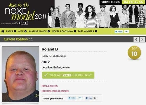 Help Roland B Fulfill His Modeling Dreams!