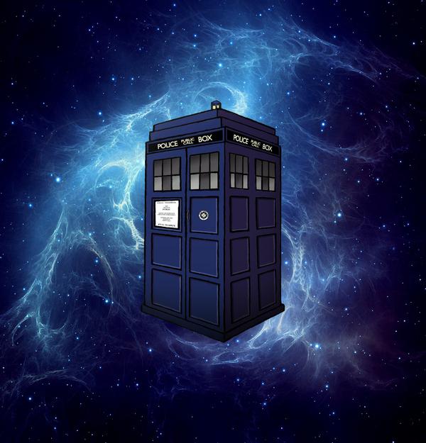 The Bluest Blue... the TARDIS!