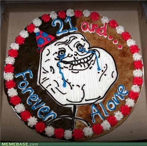 Forever Alone Cookie
