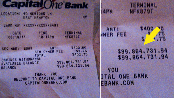 The $100 Million ATM Receipt