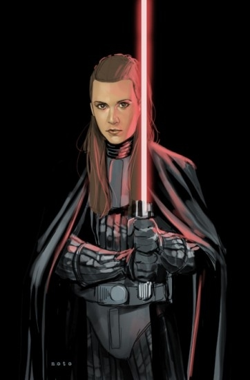 Princess Leia In A Vader Suit