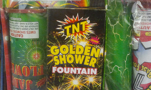 Enjoy a Golden Shower On July 4th