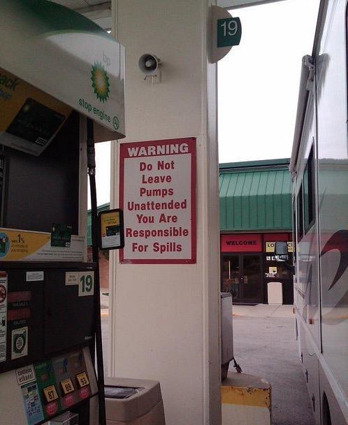 Ironic BP Sign