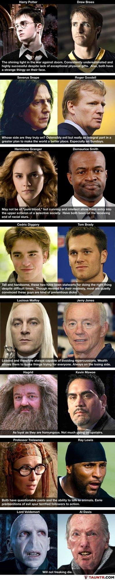 Harry Potter NFL Lockout Comparisons