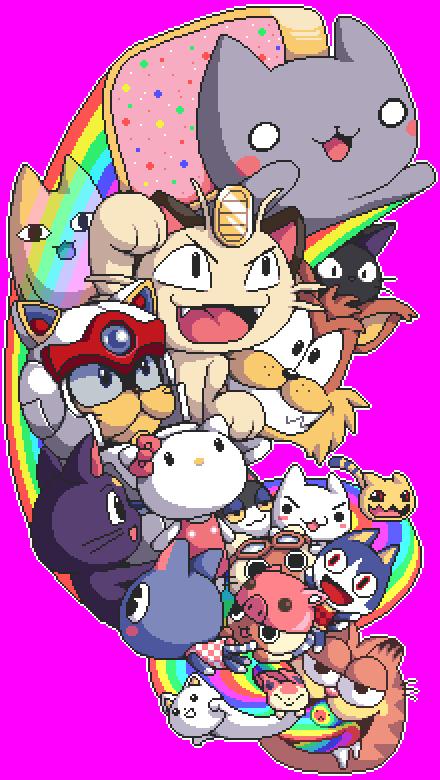 Pixel Art of Famous Fictional Cats!