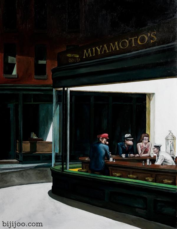 Miyamoto's: A Nighthawks Parody