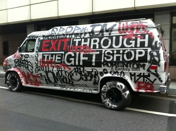 Banksy Promo Van Gets Tagged In Tokyo