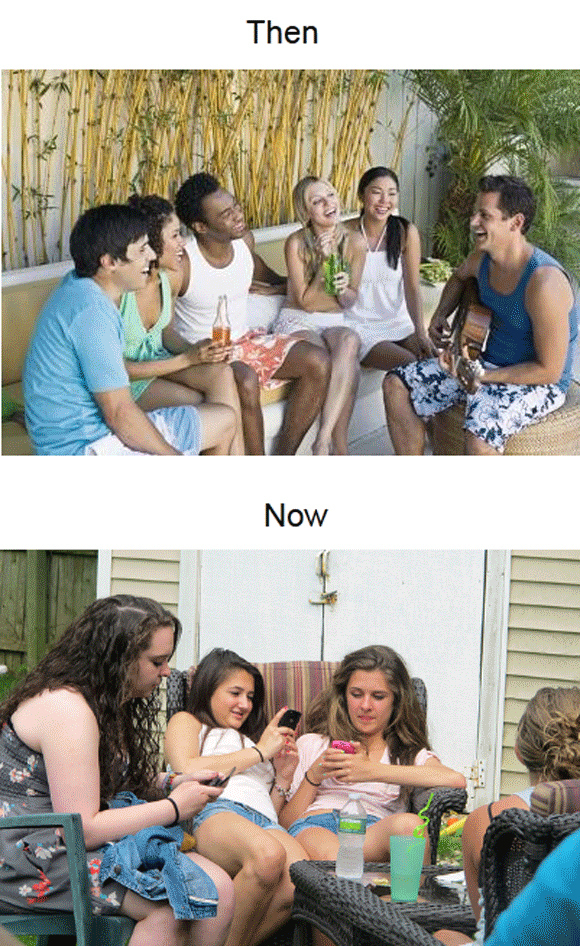 Socializing: Then Vs. Now