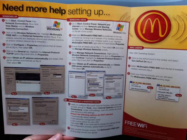McDonald's WiFi Guide