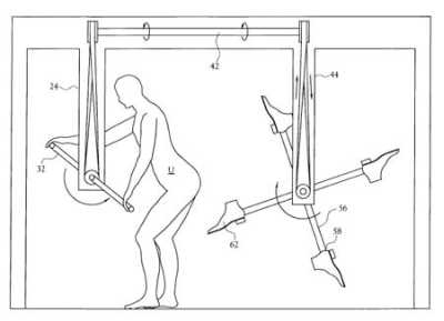 Butt Kicking Device  - U.S. Patent #6,293,874