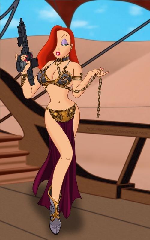 Jessica Rabbit As A Slave Leia