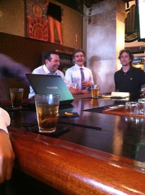 Jose Baez kicking it with Geraldo Rivera